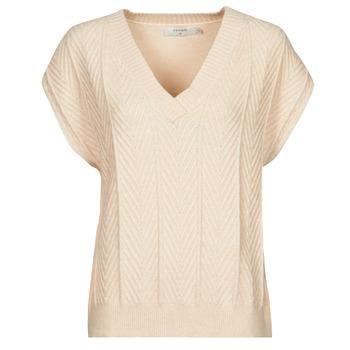 textil Dam Blusar Cream MAHIMA SLEEVELESS Beige