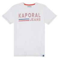 textil Pojkar T-shirts Kaporal EZIO Vit