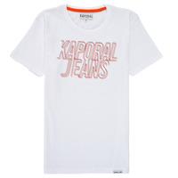 textil Pojkar T-shirts Kaporal MAIL Vit