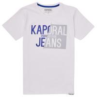 textil Pojkar T-shirts Kaporal MAYO Vit