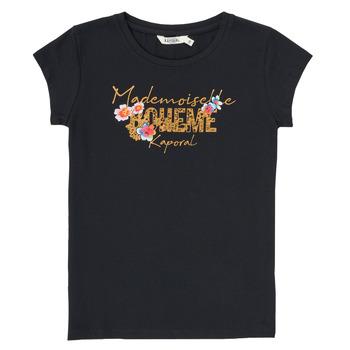 textil Pojkar T-shirts Kaporal ELISA Svart