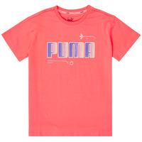 textil Flickor T-shirts Puma ALPHA TEE Rosa