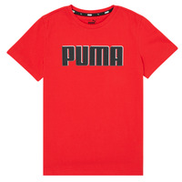 textil Pojkar T-shirts Puma ALPHA GRAF TEE Röd
