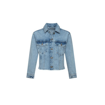 textil Flickor Jeansjackor Pepe jeans NICOLE JACKET Blå