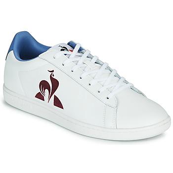 Skor Herr Sneakers Le Coq Sportif MASTER COURT Vit / Blå