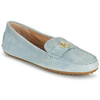 Skor Dam Loafers Lauren Ralph Lauren BARNSBURY FLATS CASUAL Blå / Himmelsblå