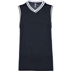 textil Linnen / Ärmlösa T-shirts Proact Débardeur  university bleu marine/blanc