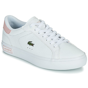 Skor Dam Sneakers Lacoste POWERCOURT 0721 2 SFA Vit / Rosa