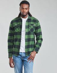 textil Herr Långärmade skjortor Dickies NEW SACRAMENTO SHIRT PINE GREEN Kaki / Svart