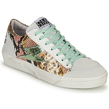 Skor Dam Sneakers Semerdjian ELISE Vit / Brun