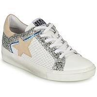 Skor Dam Sneakers Semerdjian CARLA Vit / Silver / Beige