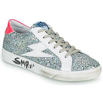 Skor Dam Sneakers Semerdjian CATRI Silver / Rosa