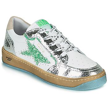 Skor Dam Sneakers Semerdjian ARTO Vit / Silver / Grön