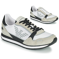 Skor Herr Sneakers Emporio Armani EMPAGNO Vit
