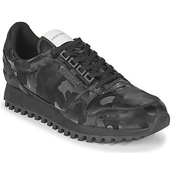 Skor Herr Sneakers Emporio Armani AUTRIA Svart
