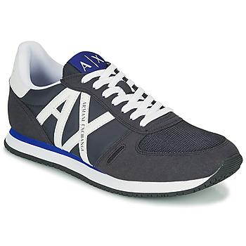 Skor Herr Sneakers Armani Exchange ESPACIA Blå / Marin