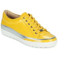Skor Dam Sneakers Caprice 23654-613 Gul / Silver