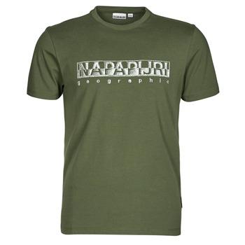 textil Herr T-shirts Napapijri SALLAR SS Grön