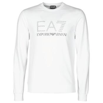 textil Herr Sweatshirts Emporio Armani EA7 3KPMD7-PJ2SZ-1100 Vit