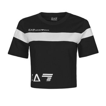 textil Dam T-shirts Emporio Armani EA7 3KTT05-TJ9ZZ-1200 Svart / Vit