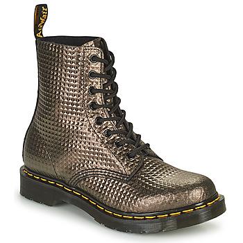 Skor Dam Boots Dr Martens 1460 PASCAL Mullvadsfärgad / Guldfärgad