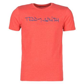 textil Herr T-shirts Teddy Smith TICLASS Röd