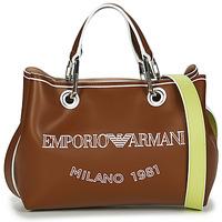 Väskor Dam Handväskor med kort rem Emporio Armani BORSA SHOPPING Kamel