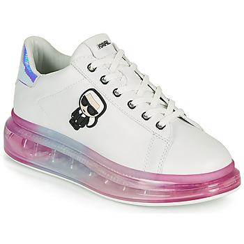 Skor Dam Sneakers Karl Lagerfeld KAPRI KUSHION KARL IKONIC LO LACE Vit / Flerfärgad