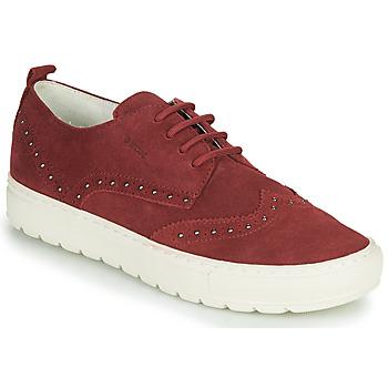 Skor Dam Sneakers Geox D BREEDA Bordeaux