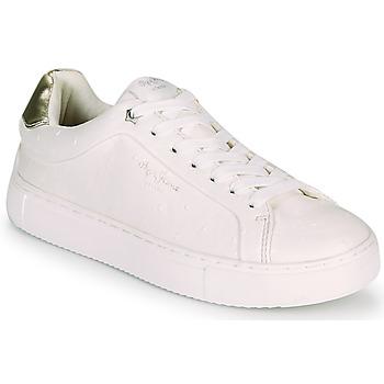 Skor Dam Sneakers Pepe jeans ADAMS MOLLY Vit / Guldfärgad