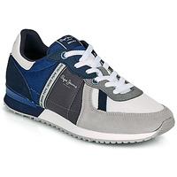 Skor Herr Sneakers Pepe jeans TINKER ZERO 21 Grå / Blå