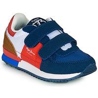 Skor Pojkar Sneakers Pepe jeans SYDNEY TREND BOY KIDS SS21 Blå / Röd