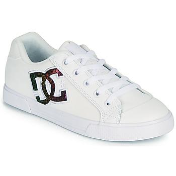 Skor Dam Skateskor DC Shoes CHELSEA J Vit / Rosa