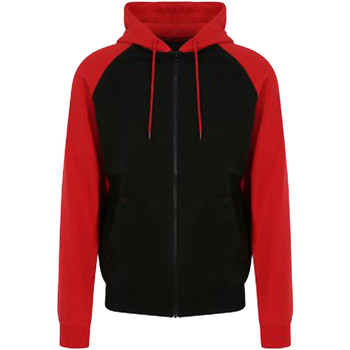 textil Herr Sweatshirts Awdis JH063 Jet Black/Fire Red