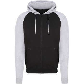 textil Herr Sweatshirts Awdis JH063 Jet Black/Heather Grey