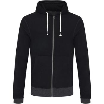 textil Herr Sweatshirts Ecologie EA051 Svart/Charcoal