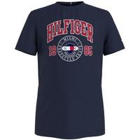 textil Pojkar T-shirts Tommy Hilfiger CRISA Marin