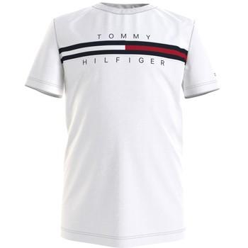textil Pojkar T-shirts Tommy Hilfiger KB0KB06532-YBR Vit