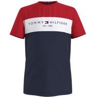 textil Pojkar T-shirts Tommy Hilfiger KB0KB06534-C87 Flerfärgad