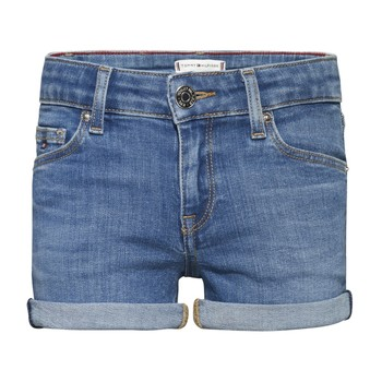 textil Flickor Shorts / Bermudas Tommy Hilfiger KG0KG05773-1A4 Blå