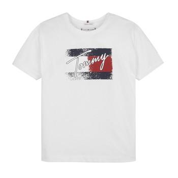 textil Flickor T-shirts Tommy Hilfiger MONCHE Vit