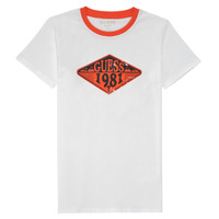 textil Pojkar T-shirts Guess L1GI09-K8HM0-TWHT Vit