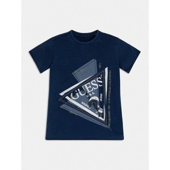 textil Pojkar T-shirts Guess L1RI15-K8GA0-F233 Blå