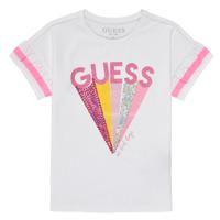 textil Flickor T-shirts Guess K1RI04-K6YW1-TWHT Vit