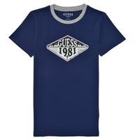 textil Pojkar T-shirts Guess L1GI09-K8HM0-DEKB Marin