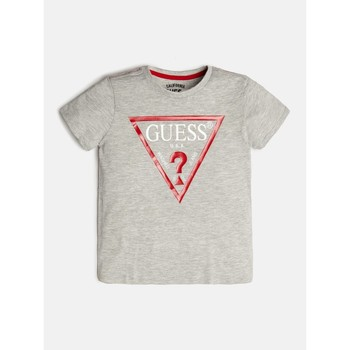 textil Pojkar T-shirts Guess L73I55-K5M20-M90 Grå