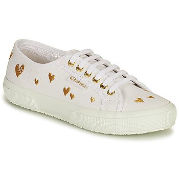 Skor Dam Sneakers Superga 2750 HEARTS EMBRODERY Vit