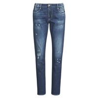 textil Dam Jeans boyfriend Le Temps des Cerises 200/43 LIOR Blå