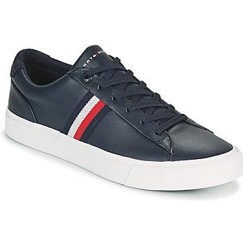 Skor Herr Sneakers Tommy Hilfiger CORPORATE LEATHER SNEAKER Marin