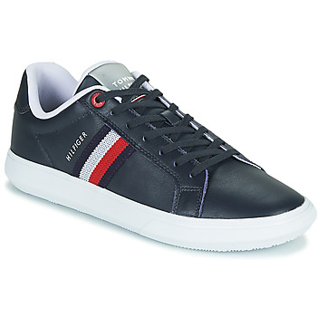 Skor Herr Sneakers Tommy Hilfiger ESSENTIAL LEATHER CUPSOLE Marin